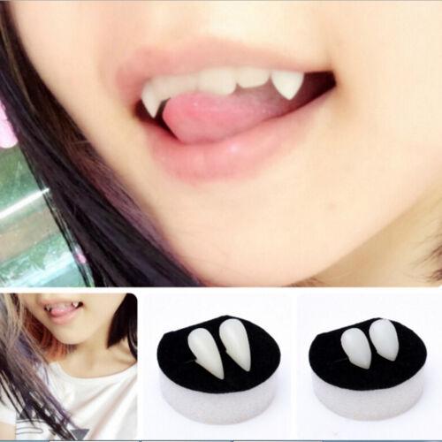 Bloodcurdling Vampire Werewolves Fangs Fake Dentures Teeth Costume Halloween VG