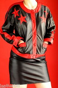 Skirt And Suit 8 Star Size Leather Black Vakko Jacket Erez Red BYqZBw