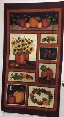 Pumpkin Patch PANEL 100/% high quality Cotton Quilting Fabric for Quilters