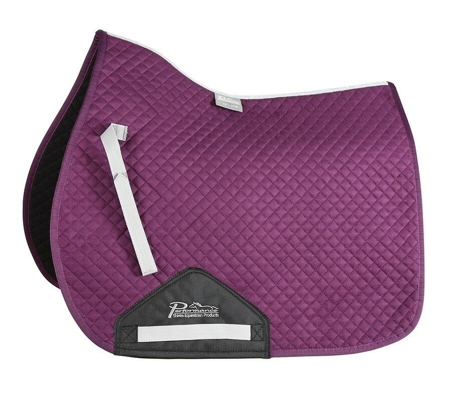 Shires Equestrian Performance Suede Saddle  Pad with Touch Close Billet Strap  clearance up to 70%