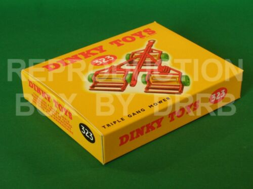 Dinky #323 (27j) Triple Gang Mower - Reproduction Box by DRRB