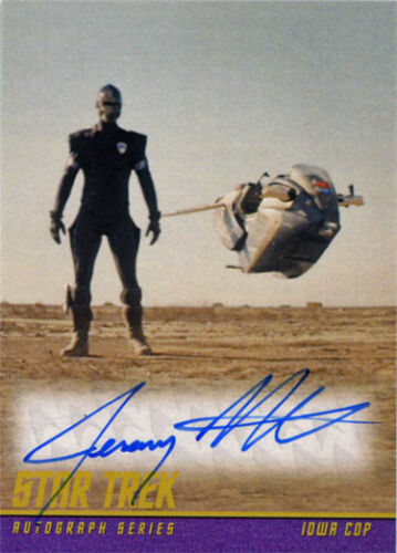 Star Trek Beyond Classic Autograph Card Jeremy Fitzgerald as Iowa Cop
