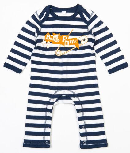 BABY PUNK Rompasuit navy//weiß gestreift Baby Strampler