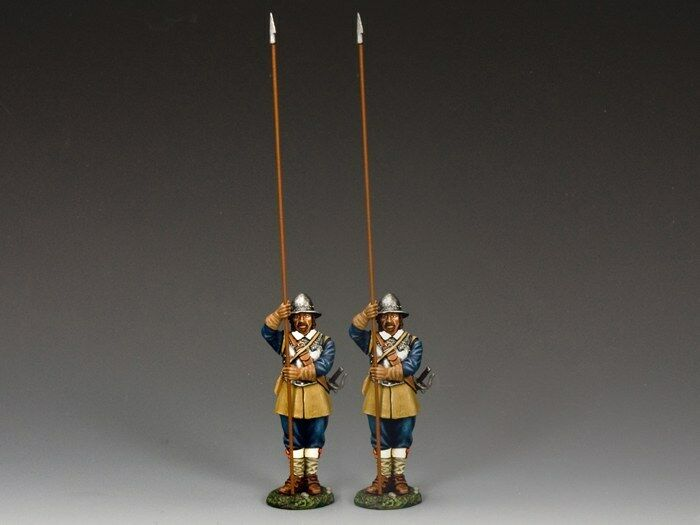 KING AND COUNTRY English Civil War Two Standing Pikemen (Royalist) PnM-S07