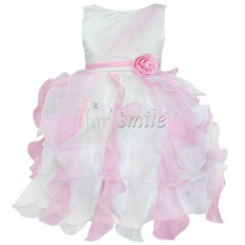 Champagne Flower Girl Princess Dress Wedding Party Pageant Tulle Dresses SZ 2T-8