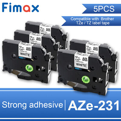 5X Compatible Label Tape TZe-231 for Brother P-touch Printer 12mm 8m PT-D210