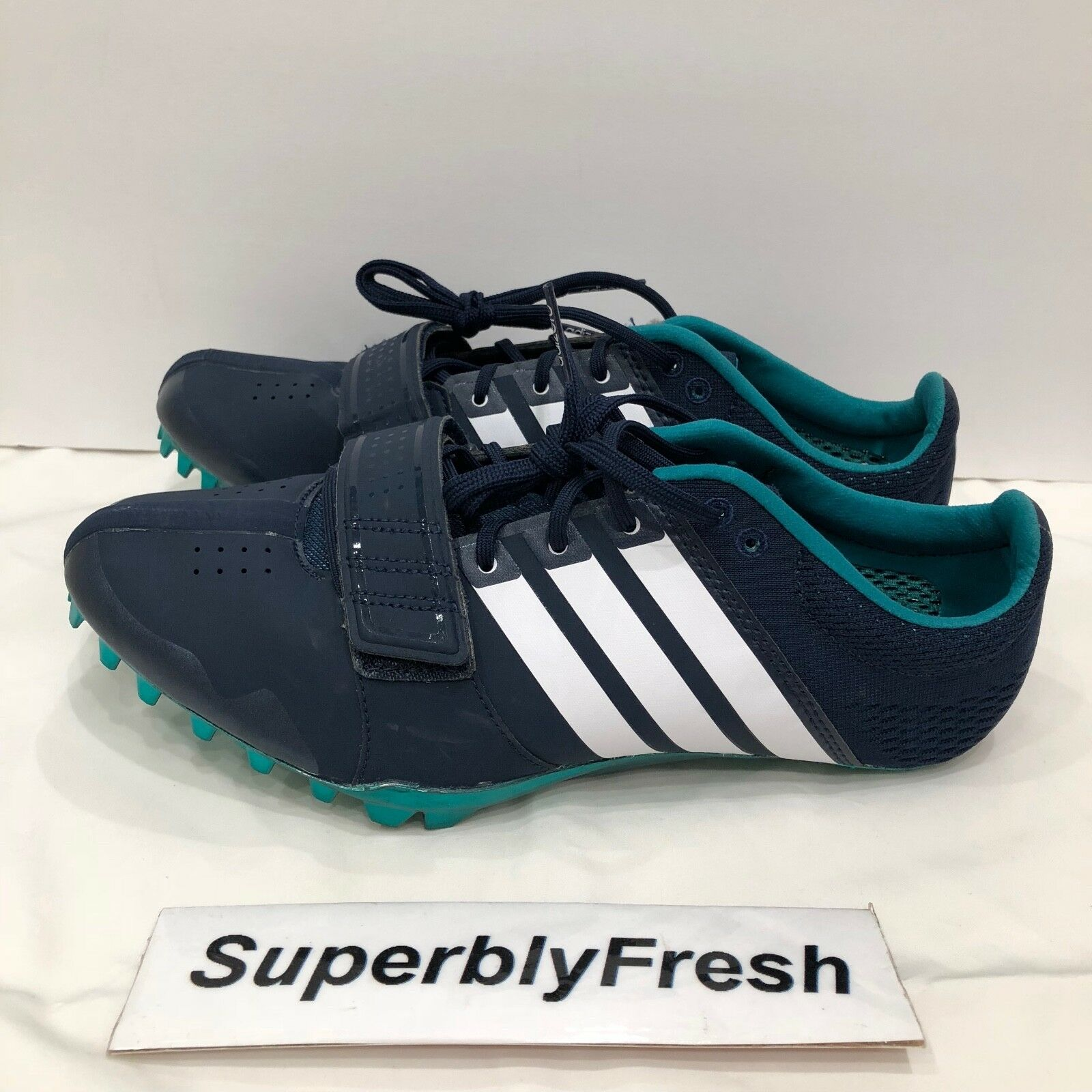 Adidas Mens Adizero Accelerator Sz 11.5 S78629 Running Track Navy Blue RARE Wild casual shoes