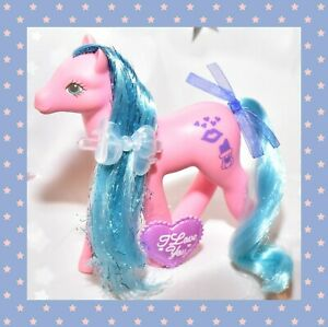 My-Little-Pony-MLP-G1-Vtg-1988-Sweetheart-Sister-Happy-Hugs-Sweet-Kisses-SHS