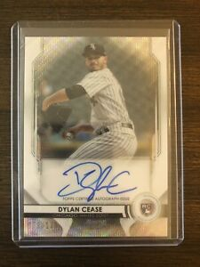 2020 Bowman Sterling  Dylan Cease Wave Autograph Rookie Card #'d/125 - White Sox