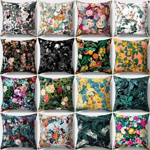 Am-BH-AU-JT-Flower-Green-Leaves-Cushion-Cover-Pillow-Case-Car-Home-Bed-Sofa