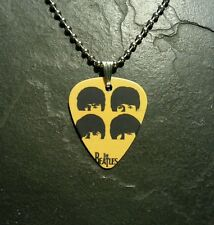 The Beatles Guitar Pick Dog Tag Style Necklace Pendant Charm Gift Present