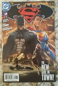 SUPERMAN BATMAN #8 NM 1ST MODERN PSI 1 APP SUPERGIRL CW TV SHOW COMIC