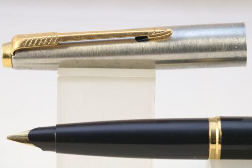 Vintage 1998 Parker 45 Classic Medium Fountain Pen GT Black