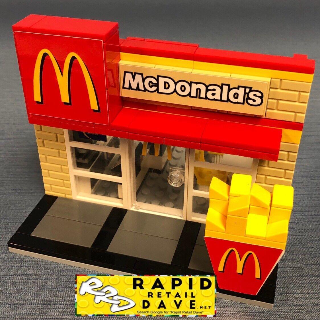 Lego Personalizado Mcdonalds restaurante altamente detallado & envío rápido