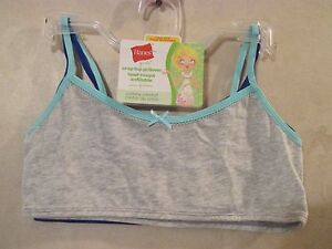 f75e393bdcf NWT Girls HANES L Grey Blue Crop Top Pullover Cotton Spandex ...