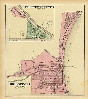 1856 TEXAS MAP TX Booker Bovina Boyd Brackettville Brady Breckenridge Bridgeport