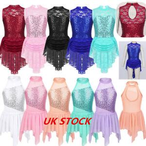 UK-Girls-Lyrical-Ballet-Dance-Dress-Leotard-Baby-Tutu-Skirt-Ballerina-Dancewear
