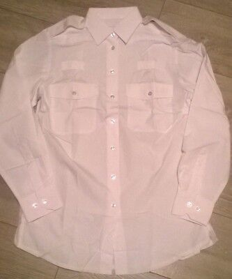 2 x Ladies long sleeve white pilot police security MOD traffic warden Shirt NEW