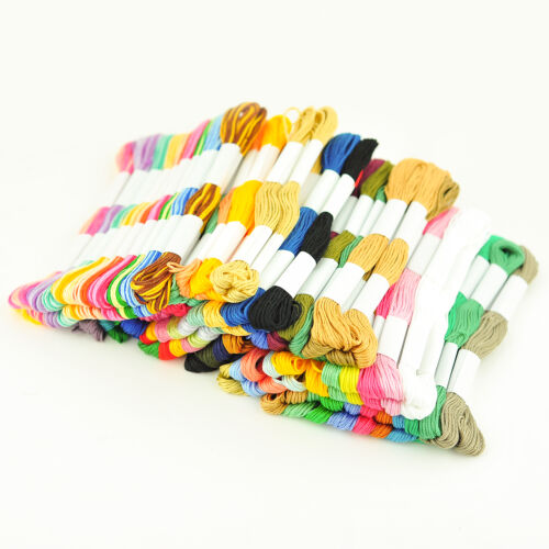 20 X Skeins Coloured Embroidery Thread Cotton Cross Stitch//Braiding//Craft Sewing