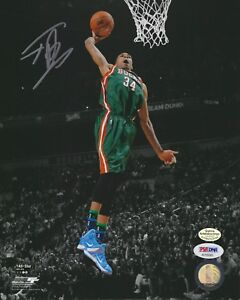 bb5387efe95f Image is loading Giannis-Antetokounmpo-034-Dunk-Contest-034-autographed-8x10 -