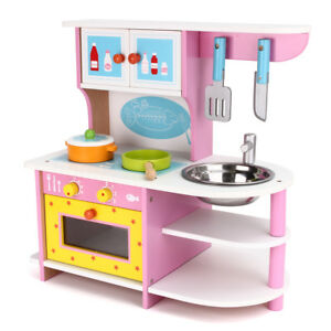 girl kid wooden kitchen role play pretend cooking set child baby rh ebay com  little tikes play kitchen for babies