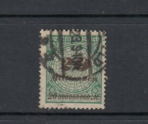 Deutsches-Reich-Mi-Nr-329-A-W-gestempelt-geprueft-Infla-Berlin