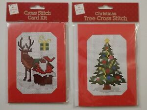 Choice of 2 Christmas Cross Stitch Card Kit