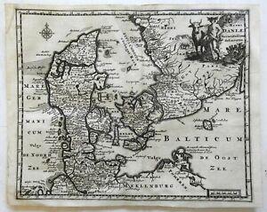 Kingdom-of-Denmark-Scandinavia-Jutland-1697-Cluverius-decorative-map