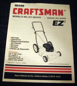craftsman ez3 owner manual
