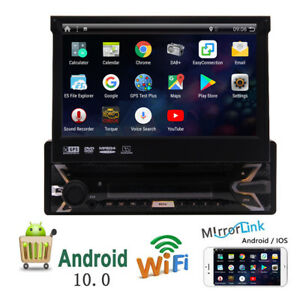 Android-10-HD-Flip-Up-Single-1-Din-Car-Head-Unit-Stereo-Radio-DVD-Player-GPS-Nav