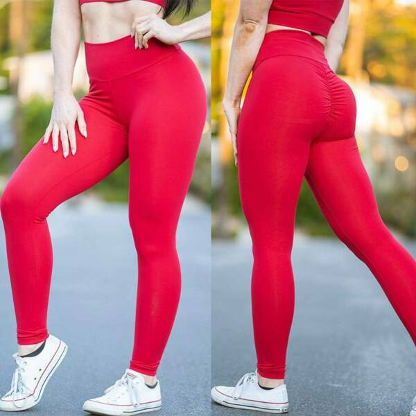 Damen Leggings Anti Cellulite Push Up Stretch Yoga Hose Sport Fitness Leggins F4