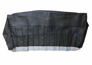 Early Rear Seat Base Cover in Black Leather/Vinyl For London Taxi FX4 FHM154