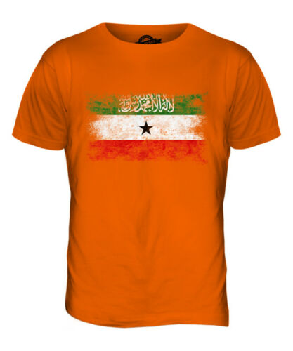 Nice SOMALILAND DISTRESSED FLAG MENS T-SHIRT TOP FOOTBALL GIFT SHIRT CLOTHING JERSEY hot sale