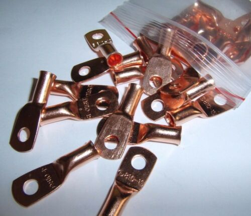4 Wire Ring Terminal Copper 8 AWG Gauge #10 Connectors Car Audio Terminals