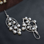 thumbnail 8 - B11-Oriental-Earrings-White-Freshwater-Pearls-And-Sterling-Silver-925