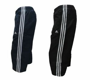 ADIDAS PERFORMANCE ESSENTIALS 3 STRIPE BASIC 3/4 LENGTH MENS SHORTS - ALL SIZES