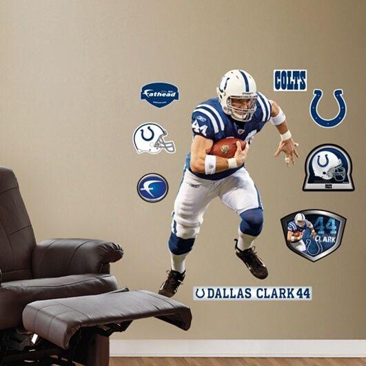 Dallas Clark  44 Te Colts Fathead Echt Groß Lebensgröße Wand Grafik + All Extras  | Neue Sorten werden eingeführt