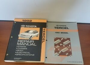 image is loading 1992-toyota-tercel-repair-manual-engine-chassis-body-