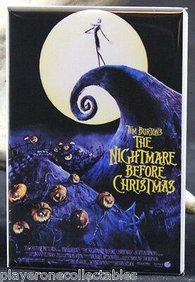 "The Nightmare Before Christmas Movie Poster - 2"" X 3"" Fridge Magnet. Tim Burton"