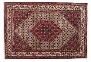 BIDJAR-tres-bien-299-x-205-cm-tapis-d-039-Orient-noue-a-la-main-laine-soie-NEUF