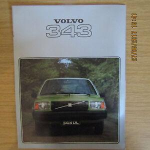 VOLVO 343 343 DL 343DL UK Market Car Sales Brochure 1978 - Lincolnshire, United Kingdom - VOLVO 343 343 DL 343DL UK Market Car Sales Brochure 1978 - Lincolnshire, United Kingdom