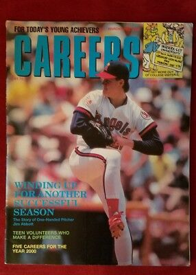 Responsible Careers Magazine Jim Abbott March/april 1990 Price Guides & Publications Non-sport Trading Cards