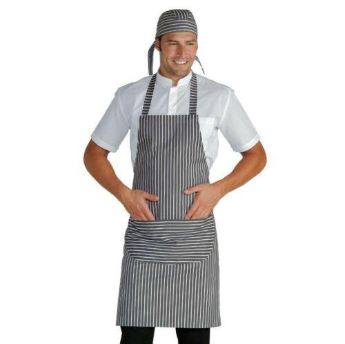 Apron Chef Bib London 12 Grey Keyed Adjustable Isaac Chef Kitchen