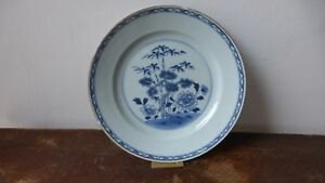 Antique-chinese-export-porcelain-plate-XVIIIth-Ancienne-Assiette-Chine-A