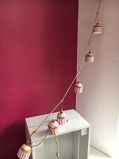 Cupcake garland decoration. Bake off. Vintage retro, shoeless joe
