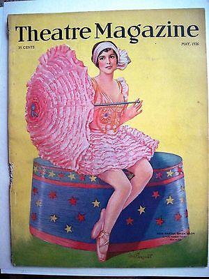 "Theater Memorabilia Vintage May 1926 ""theatre Magazine"" Has Lovely Cover W/ ""martha Bryan Allen"" * Antiques"