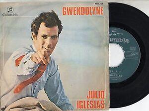 JULIO-IGLESIAS-disco-45-giri-MADE-in-SPAIN-Gwendolyne-EUROVISION-1970