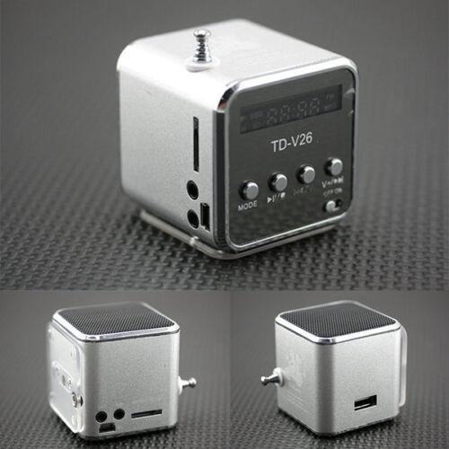 Silver Cube fad design portable radio small audio MP3 Walkman music player EC