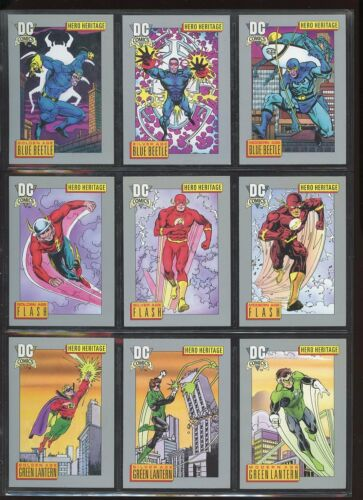 DC COSMIC CARDS 1992 COMPLETE BASE SET #1180 NEAR MINT #ns1664