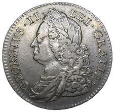 1745 Rosas halfcrown (en ángulos) - George II británico moneda de plata-V agradable